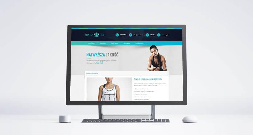allegro szablon fitness gym