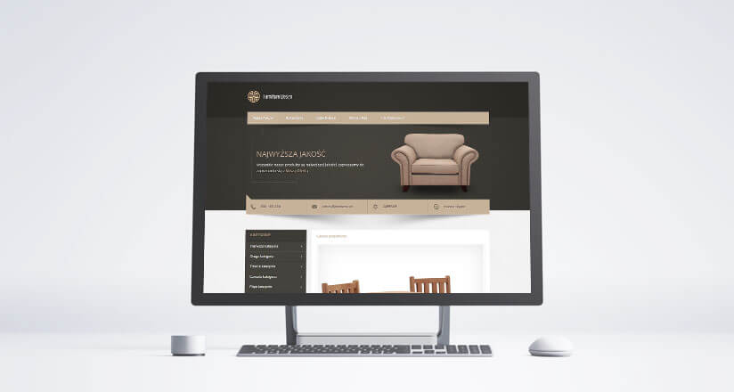 szablon aukcji furniture design
